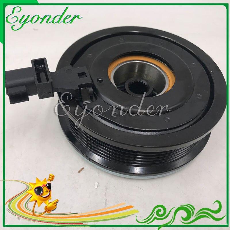 A/C AC aire para compresor de aire acondicionado electromagnética, magnética embrague para Land Rover Freelander 2 2,2 LR017930 LR041119 LR027784