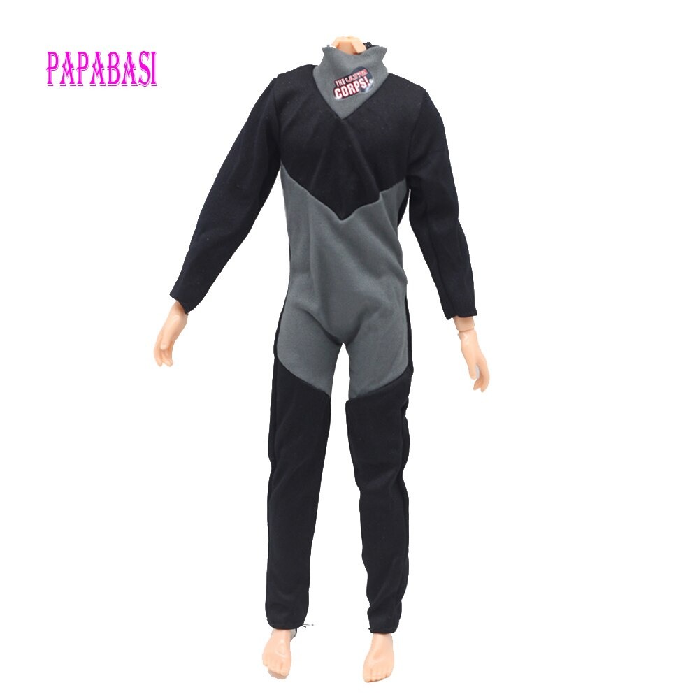 Papabasi original príncipe roupas combate mergulhador uniforme roupa para barbie menino masculino ken boneca para lanard 1/6 soldado boneca g-007