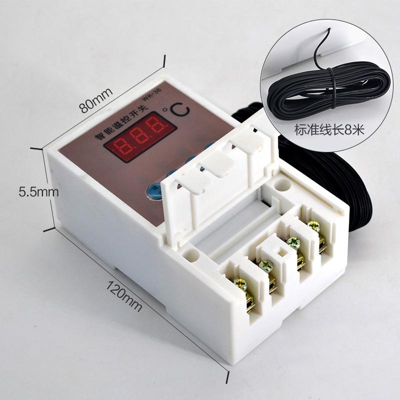 Controlador de Temperatura Interruptor de Controle Medidor de 8 Microcomputador Inteligente Display Digital Elec 1 Pcs