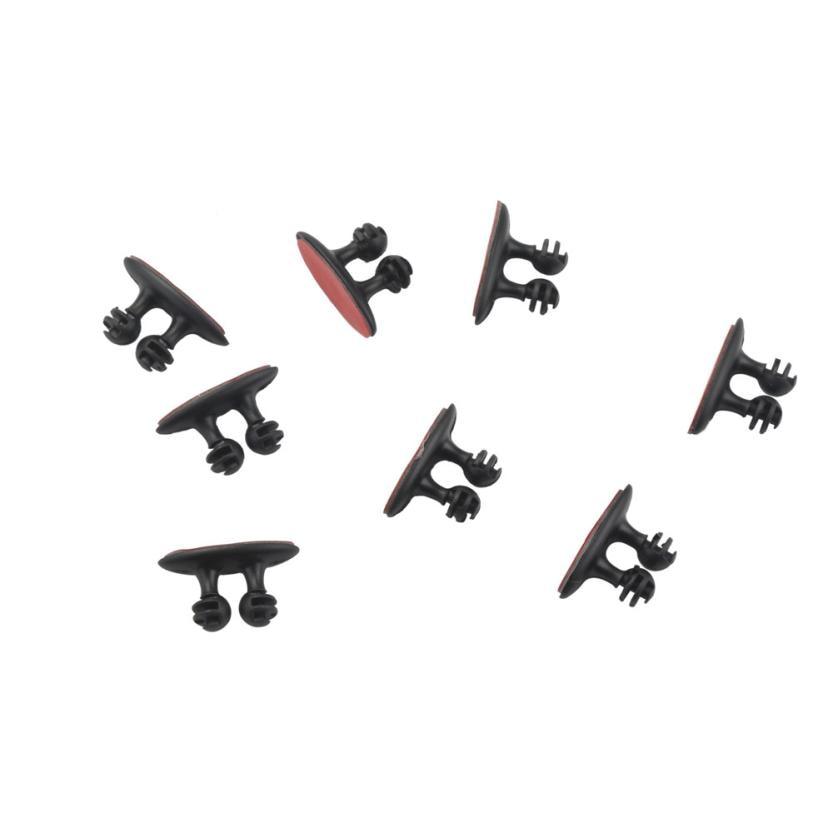 Estilo de coche kongyide 8 Uds Cable de carga de coche auriculares/USB Cable Clip de coche accesorios interiores td25 dropship