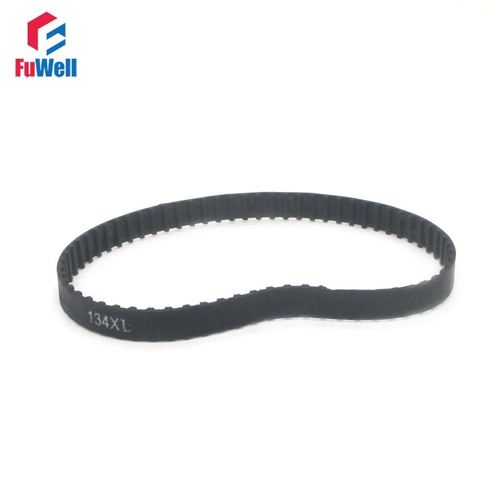 2pcs XL Timing Belt 10mm Width 112XL /114/116/118/120/122/124/126/128/130/132XL/134XL 5.08mm Pitch Rubber Timing Pulley Belt