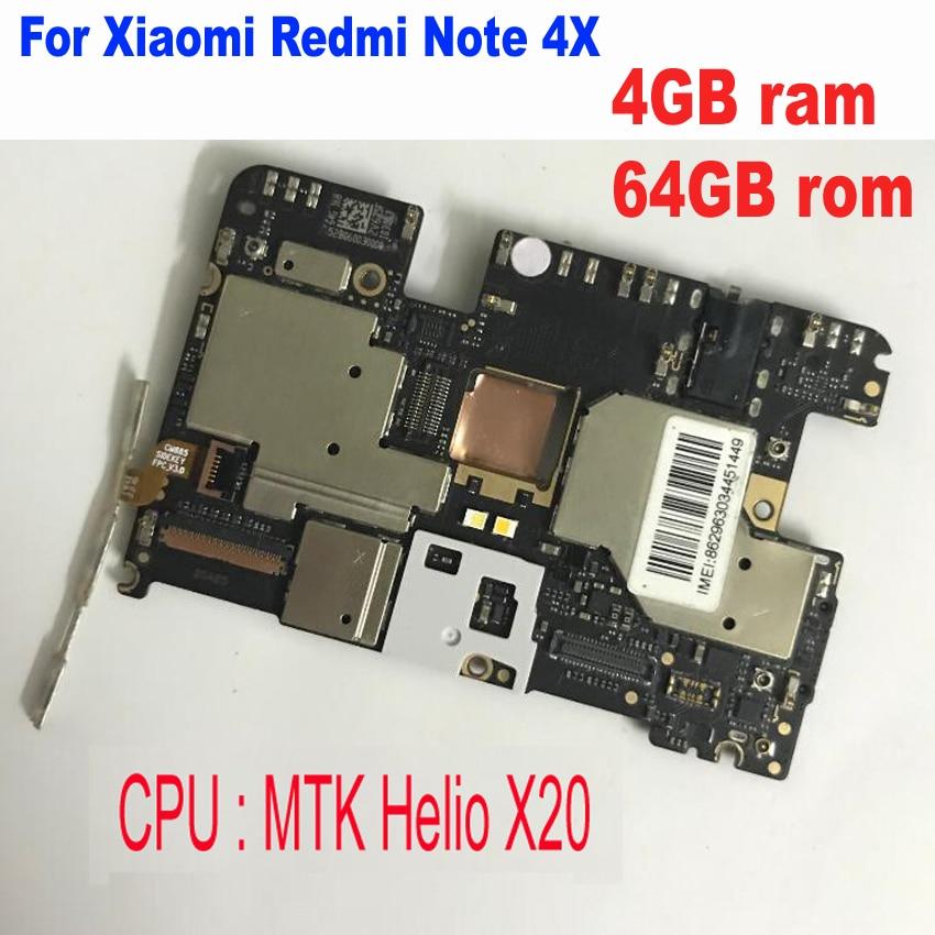 اللوحة الأم لـ Xiaomi Redmi NOTE 4X ، اللوحة الأم لـ Xiaomi Redmi NOTE 4X MTK Helio X20 4GB 64GB ، البرامج الثابتة العالمية غير المؤمنة ، الدوائر