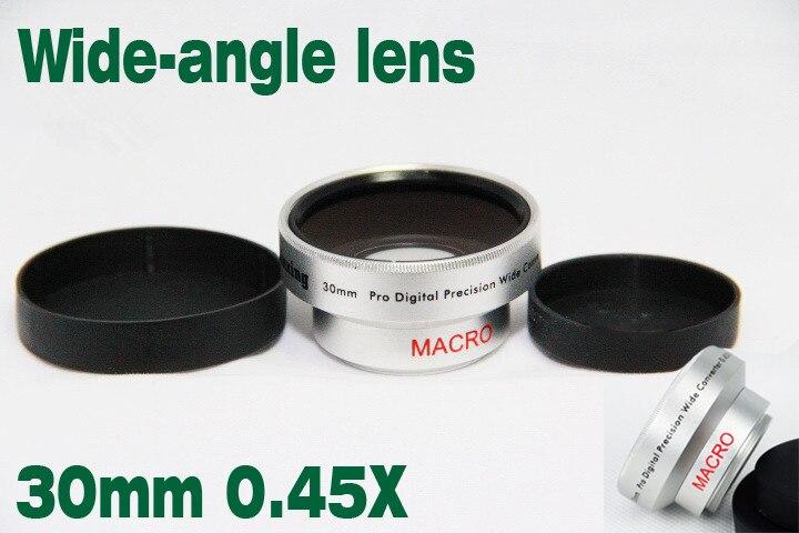 Новая оптическая стеклянная Макросъемка 30 мм 0.45x широкоугольный + макроконверсионный объектив + передние и задние крышки для фронтальной ви...