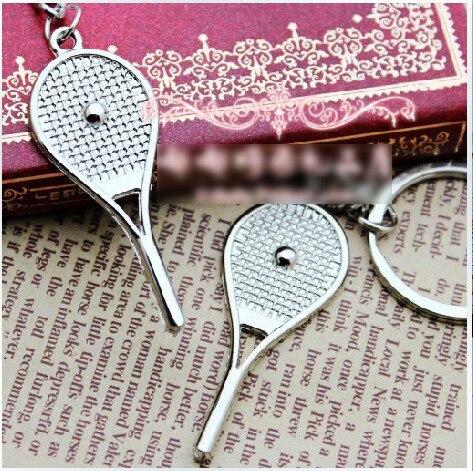 Saco de tênis pingente liga mini raquete de tênis chaveiro pequenos ornamentos esporte chaveiro fãs lembranças chaveiro presentes