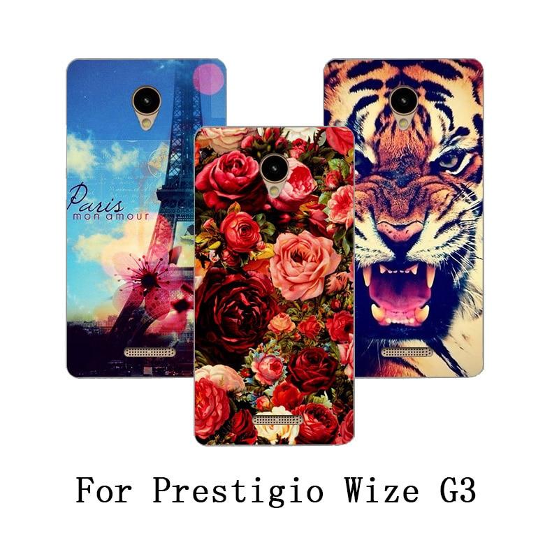 Para Prestigio Wize G3 Caso Pintura Luxo Colorido DIY Flor animais e As Torres PSP3510 Wize G3 Tpu Soft Case Para Prestigio DUO