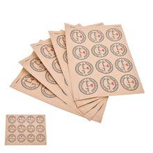 60 uds. Pegatinas autoadhesivas de amor rojo gracias marca Kraft pegatinas de agradecimiento regalos etiquetas redondas personalizadas bolsa de papel