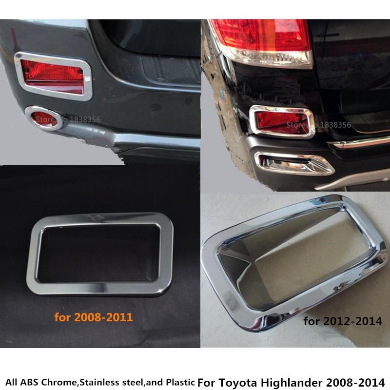 Каркасная ручка для автомобилей Toyota, хромированная накладка на заднюю часть автомобиля, светильник для Toyota горlander 2008, 2009, 2010, 2011, 2012, 2013, 2014