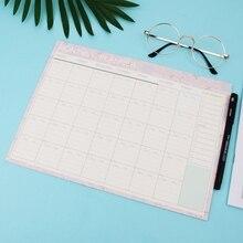 Livraison directe en gros mensuel bloc-papier 20 feuilles bricolage planificateur bureau Agenda cadeau école fournitures de bureau