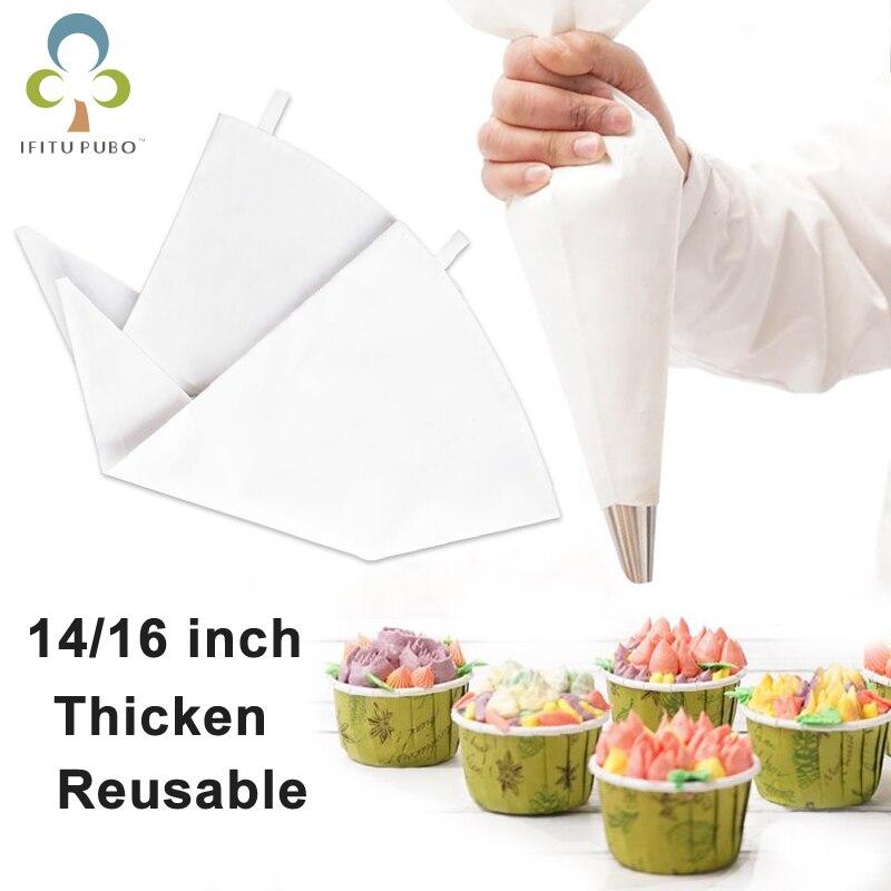 1PC 100% de algodón crema glaseado de repostería bolsa para hornear cocinar tarta herramientas de bolsa de accesorios de cocina respetuoso del medio ambiente GYH