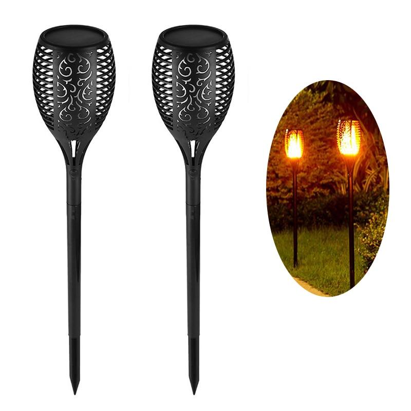 Luz Solar Led Para Exterior, lámpara de llama Solar, parpadeante, impermeable, luces...