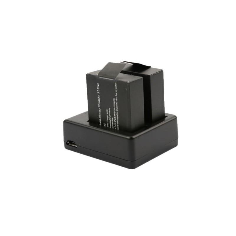 LANBEIKA para SJCAM Cargador de Batería Dual para SJ4000 SJ4000 SJ5000 M10 accesorios de Cámara de Acción WIFI con Cable USB
