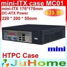 Htpc mini-itx caso, 220*220*55mm, ultra-fino, mini caso de computador de cinema em casa, no caso do computador do carro, mini itx caso mc01