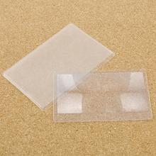 10 pièces carte de crédit taille sacs de rangement loupe lecture loupe lentille loupe de poche
