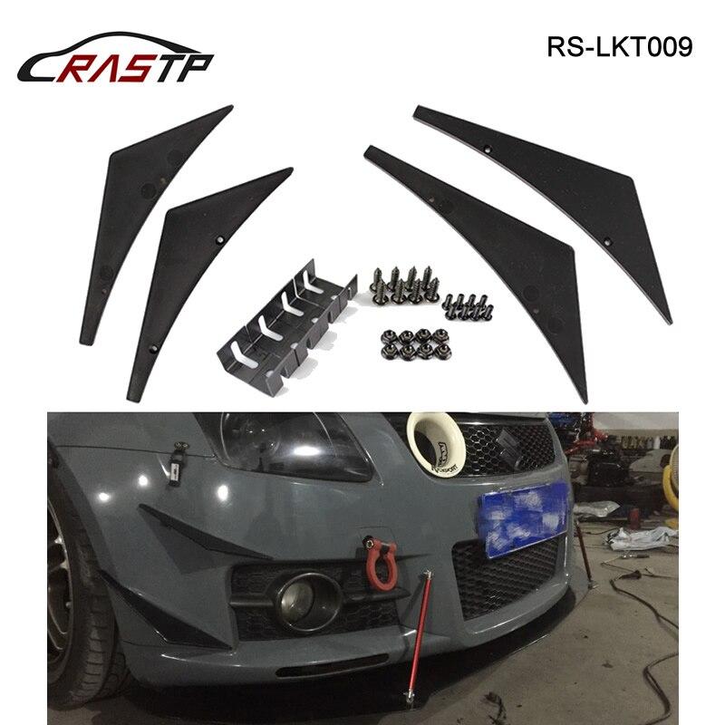 Jdm estilo universal carro spoiler dianteiro asa lâmina abs protetor fácil instalar automóvel front end acessórios RS-LKT009