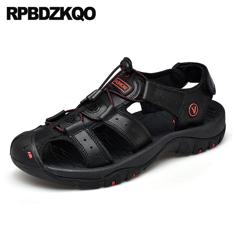 Tamanho água 46 47 fechado do dedo do pé 2019 azul sneakers além disso mens malha sapatos sandálias ao ar livre moda verão grande pescador preto esporte