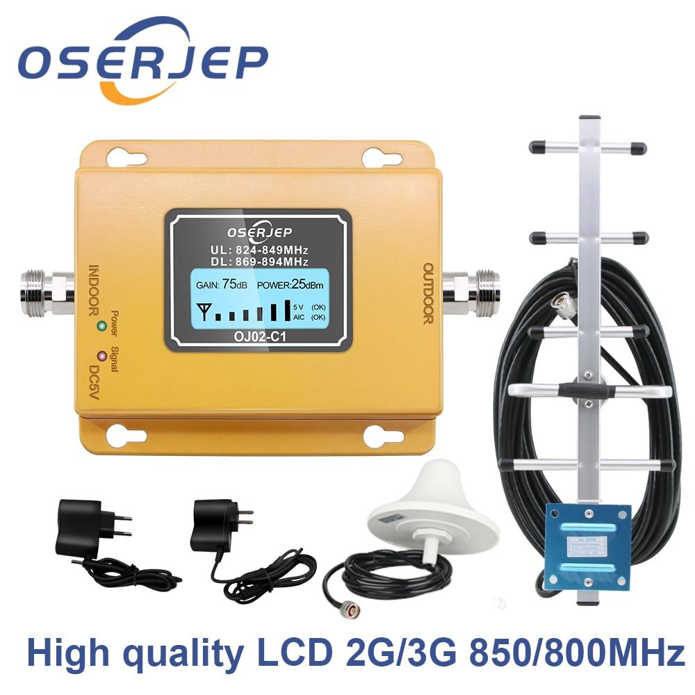 Gain70dB amplificador de señal CDMA LTE Band 5 (850 CDMA) GSM CDMA 850MHz amplificador de señal de teléfono móvil repetidor + Antena yagi