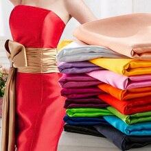 Tissu Satin brillant extensible   94% Polyester 6% Spandex pour robe, jupe de nuit