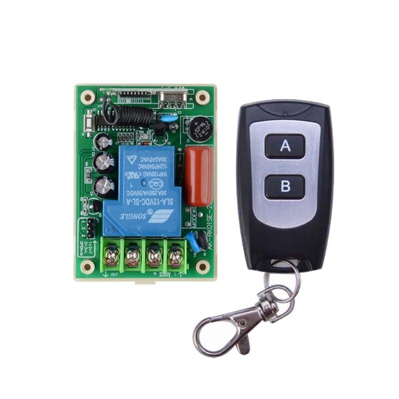 220V 30A relé 3000W receptor de interruptor de Control remoto inalámbrico transmisor 315/433 iluminación de Control remoto/lámpara LED bomba de agua