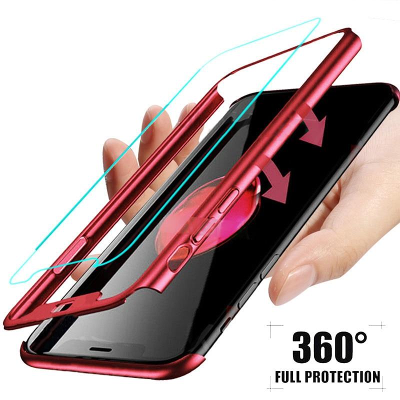 Caliente de 360 grados de la cubierta completa caso a prueba de golpes para Huawei Nova 4 3 3i 2 2i amigo 20 10 con vidrio templado P20 P10 P9 P8 Lite 2017