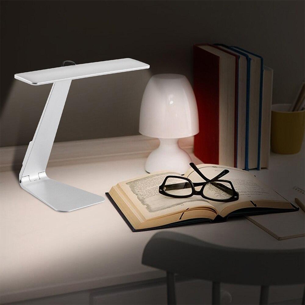 Cuidado de los ojos, luz nocturna regulable, lámpara de escritorio plegable ultrafina, Interruptor táctil, lámpara de mesa ahorradora de energía