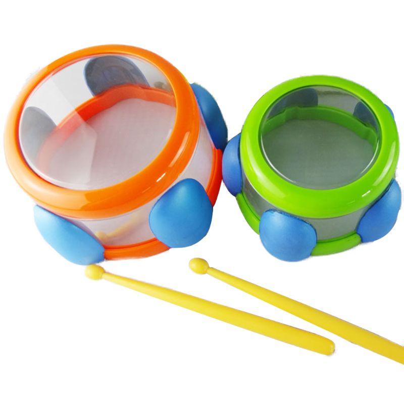 2Pcs Baby Mini Drum Bath Percussion Musical Toys Set Kids Grasping Intelligent Development Kids Educational Toys