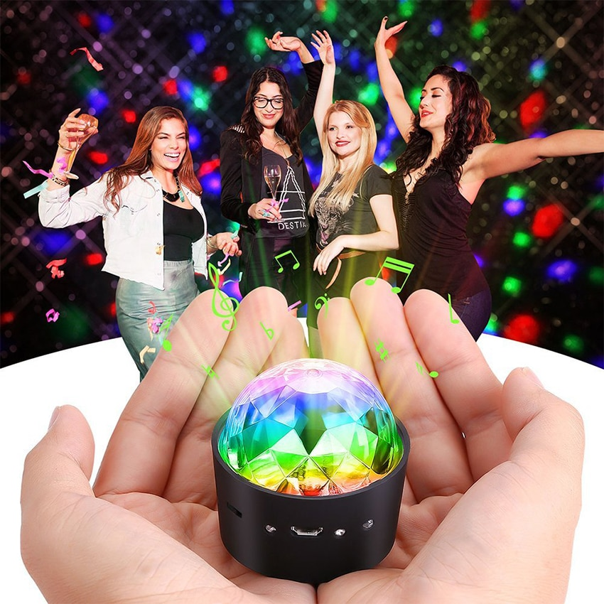 3w usb 5v mini disco ball lamp dj ktv stage light wireless ir remote voice activated lamp home party dance floor rgb light show Mini Wireless Disco Ball Light Sound Activated LED Party Strobe car Light Portable 3W 5V USB Rechargeable RGB DJ LED Stage Light
