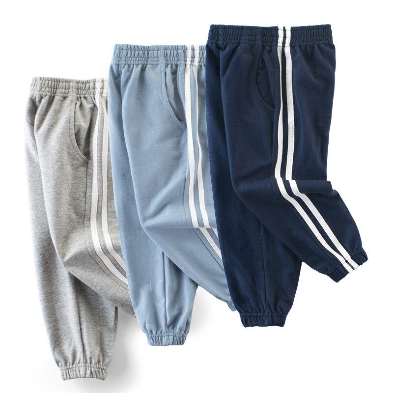 Sweatpants para meninos e meninas criança crianças roupas casuais calças de jogging 2-10 t meninos ativo esporte algodão pull-on jogger calças