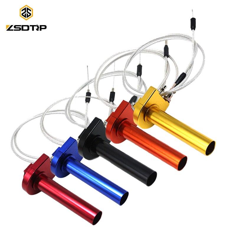 """ZSDTRP 7/8 """"Acelerador de aluminio agarre giro de acción rápida acelerador con Cable para Dirt Pit Bike 50cc 110cc 125cc"""
