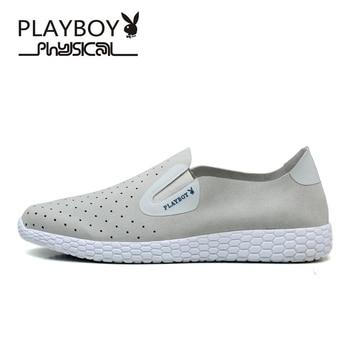 PLAYBOY Size 39-45 Mesh Men Shoes Fashion Summer Men Casual Shoes Fashion Outdoor Leisure Shoes Breathable Water Men Shoes