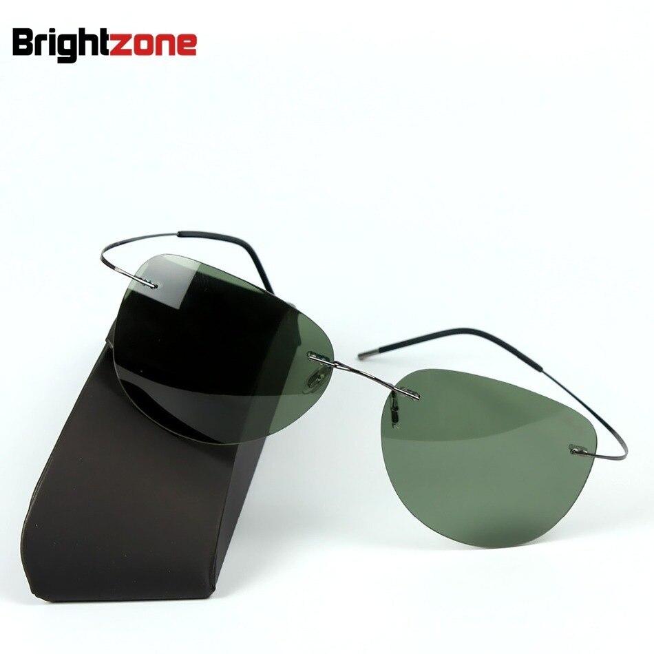 2019 Titanium frame Rimless Polarized sunglasses Super light Men Driving mirror Sunglasses Women Men Sun Glasses Summer Style