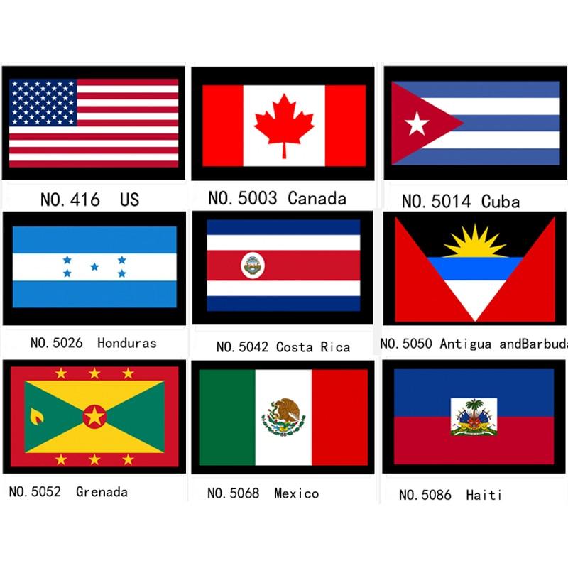 США, США, Канада, Куба, гонрас, КостаРика, антибуда, Гренада, Мексика, Национальный флаг, баннер 21*14 см
