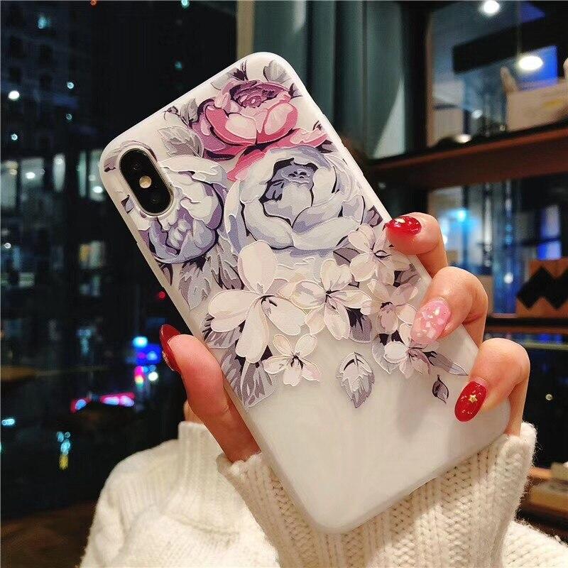 Чехол для Huawei Honor 8X 8C 8S 8 9 Mate 10 20 Lite Nova 3 3i Y5 Y9 2019 P10 P20 P30 llite P30 Pro силиконовый мягкий чехол с 3D цветком