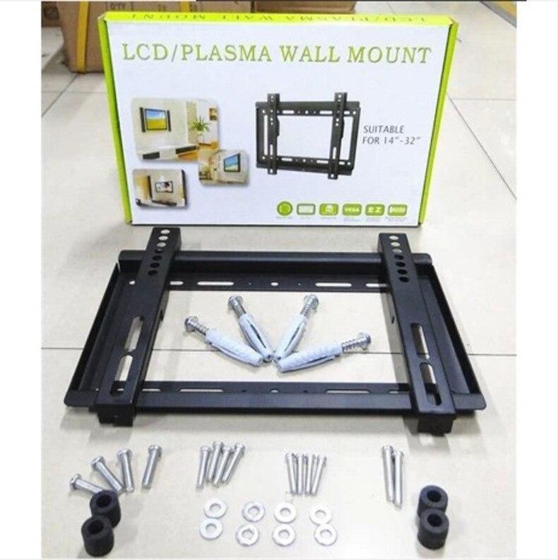 Durável Flat Panel TV Wall Mount Terno Para 14 A 32 Polegada Fornecimento de Fábrica Baratos Custo da Televisão HDTV Cabide