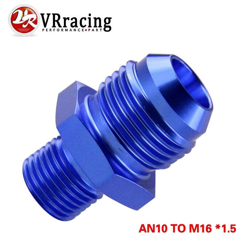 VR - BLUE macho 10AN 10 An Flare to M16x1.5(mm) Ajuste Métrico recto un puerto 10To M16 * 1,5. Adaptador VR-SL816-10-163-011