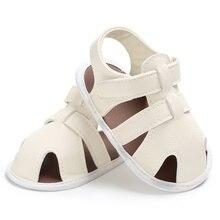 Летняя обувь для новорожденных мальчиков, детская обувь из искусственной кожи на мягкой подошве, для начинающих ходить