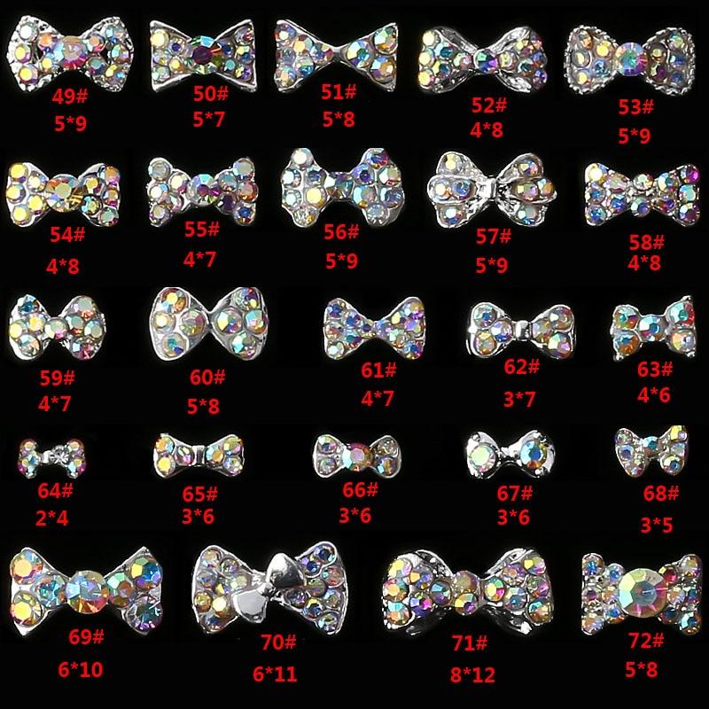 Lazos de Metal brillantes para uñas, 10 Uds., de fábrica, venta al...