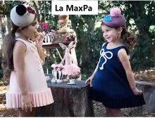 Robe dété pour petites filles   Vêtements Vintage, Style plage, en 3D, avec nœud papillon, pour filles de 2 à 8 ans
