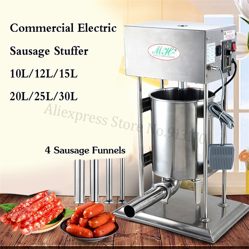 Automatic Electric Churro Making Machine 10L Spain Churros Extruder Sausage Stuffer Filler Salami Maker hot sale popular 5l commercial spanish churro maker machine with 6l fryer maker churros making machine with ce in high quqlity