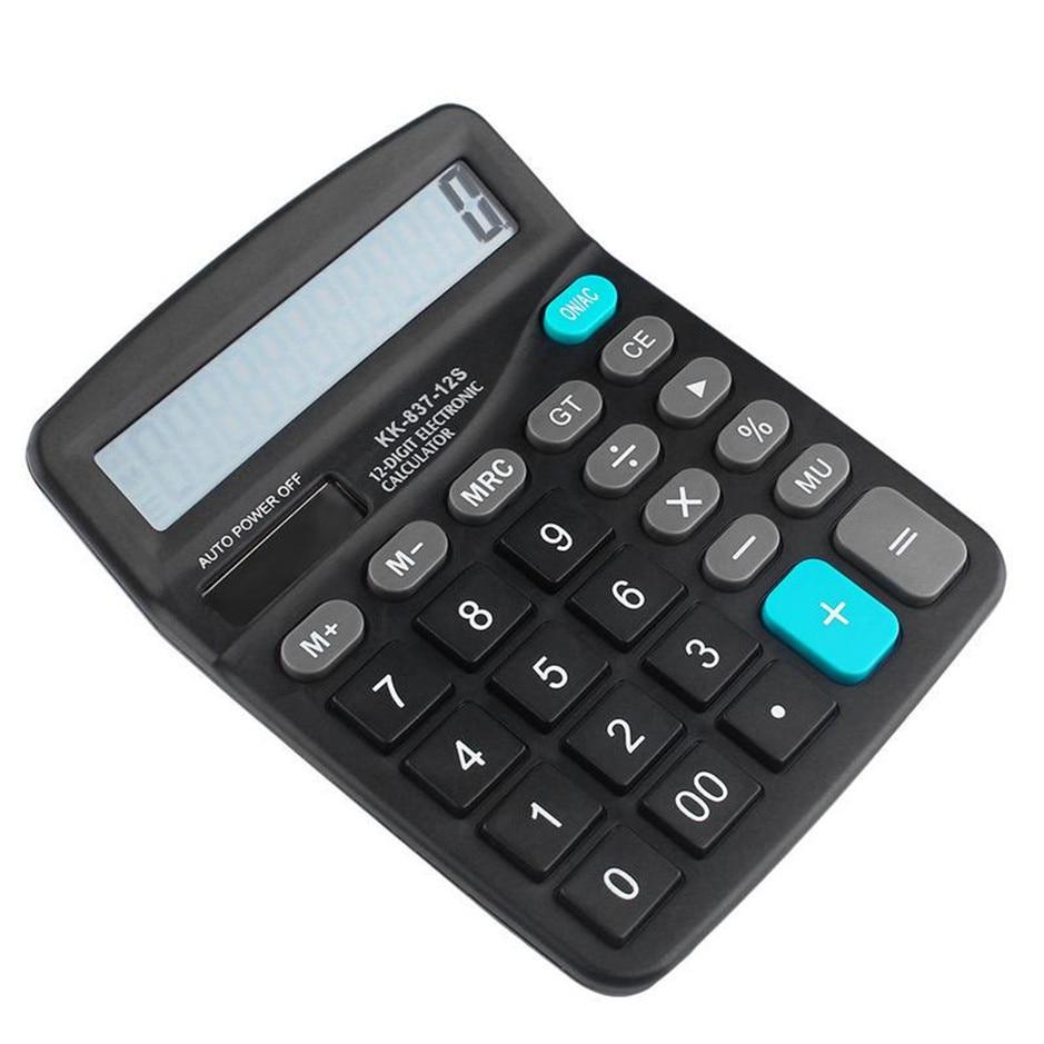 1 pces escritório calculadora comercial calcular ferramenta alimentado por bateria 12 dígitos calculadora eletrônica portátil venda quente mais novo