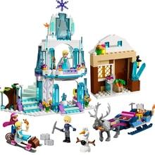 New Dream Princess Elsa Ice Castle Princess Anna Model Building Blocks Bricks Toys educational Toys For Children