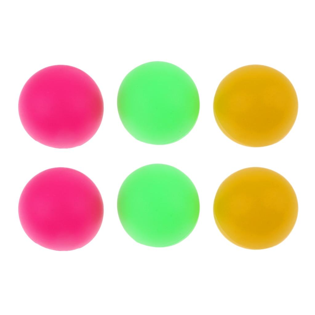 6 uds bolas de gato de color mixto pelotas de tenis de playa de plástico pelotas de Ping Pong de cerveza colorida práctica de reemplazo de pelota de tenis de mesa