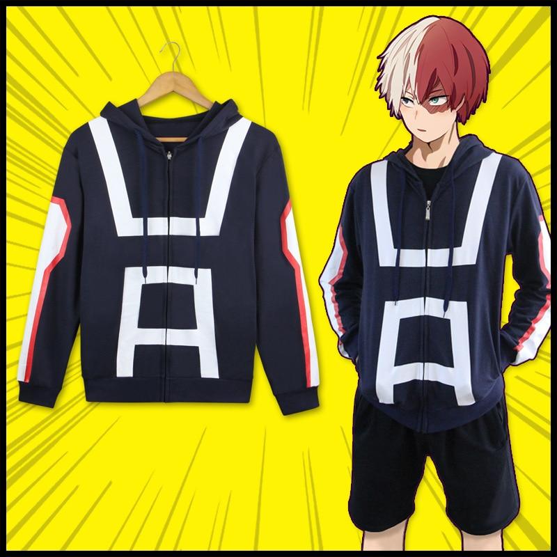 Boku No Hero Academia Cosplay Hoodie Sweatshirt My Hero Academia Jacket Coat High School Uniform Sports Wear Halloween Costumes