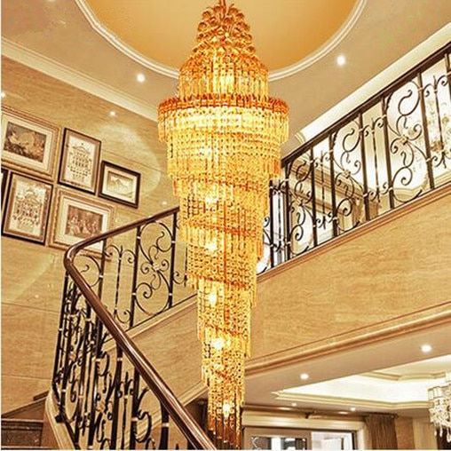 LED 31W-40W Contemporary And Contracted Luxury Villa Stair Lamp Double Entry Stair Light Big Pendant Lamps 110-240V  - buy with discount
