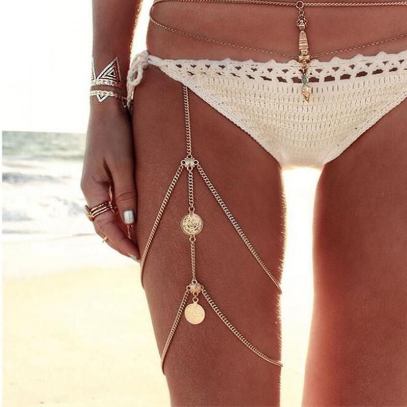 Tobilleras para verano nuevas para mujer, tobillera con cadena para pierna multicapa de playa estilo Bohemia, para pie con borla tobillera, joyería al por mayor