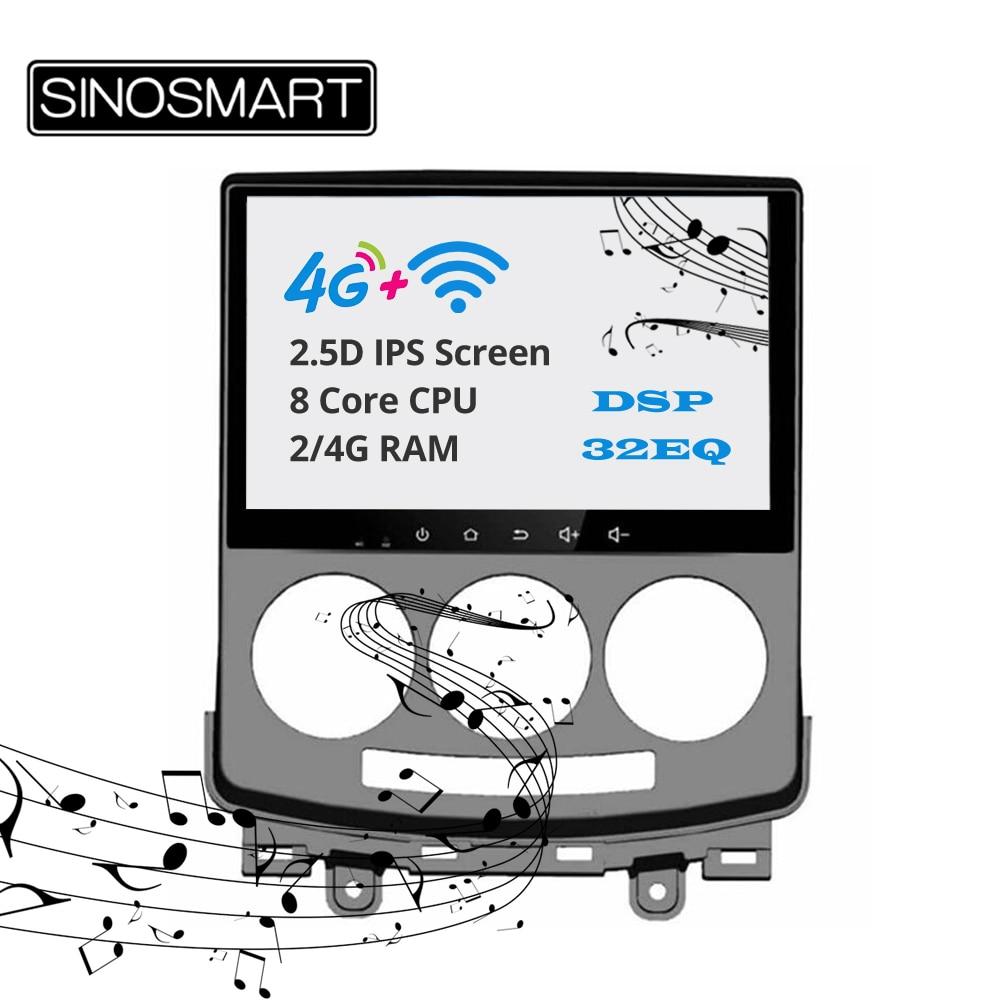 Sinosmart apoyo BOSE 2Din IPS/QLED 2.5D pantalla gps para coche radio multimedia reproductor de navegador para Mazda 5 Premacy 2004-2010