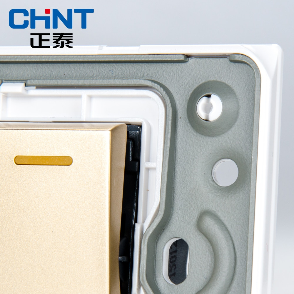 CHINT Electric 118 Type Photocell Light Switch NEW5D Embedded Steel Frame Four Position Five Gang Two Way Switch
