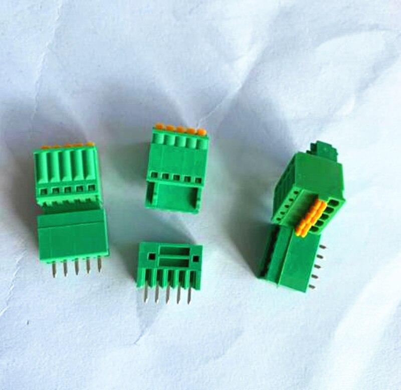 10sets Schraube-freies 2EDGKD-2.5/2,54mm pitch männliche und weibliche pin steckbare PCB terminal blöcke 2p /3 p/4 p/5 p/6 p/7 p/8 p/9 p/10 p