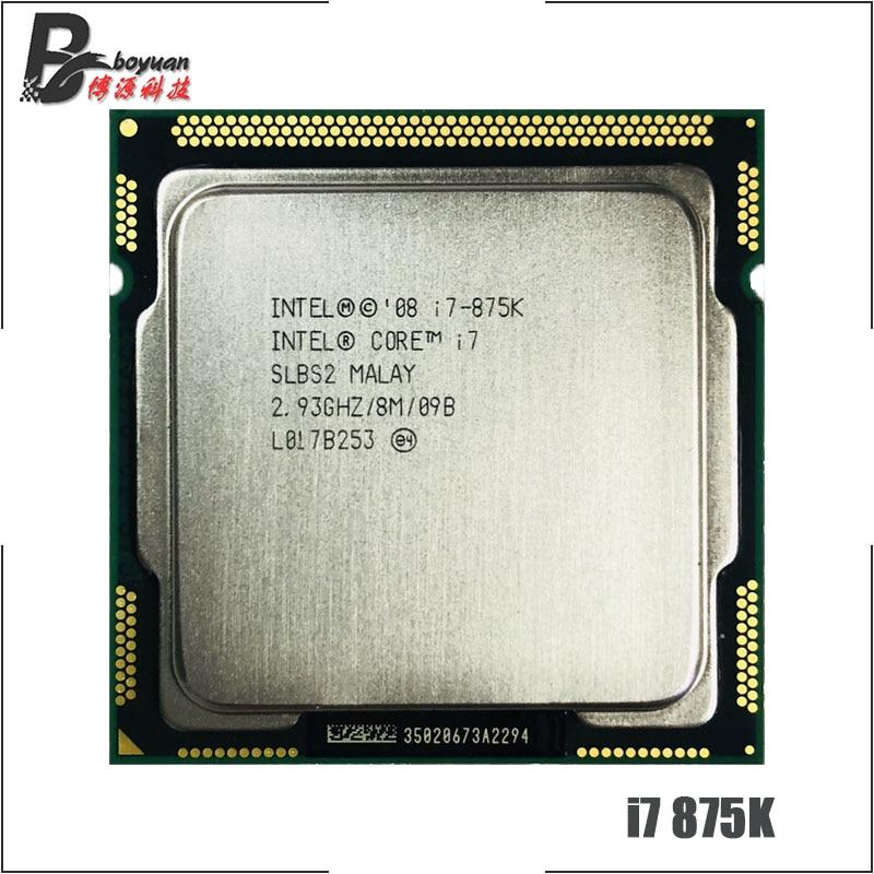 Intel Core i7 i7-875K 875K i7 875 2.933 GHz Quad-Core CPU de ocho hilos, procesador LGA 1156