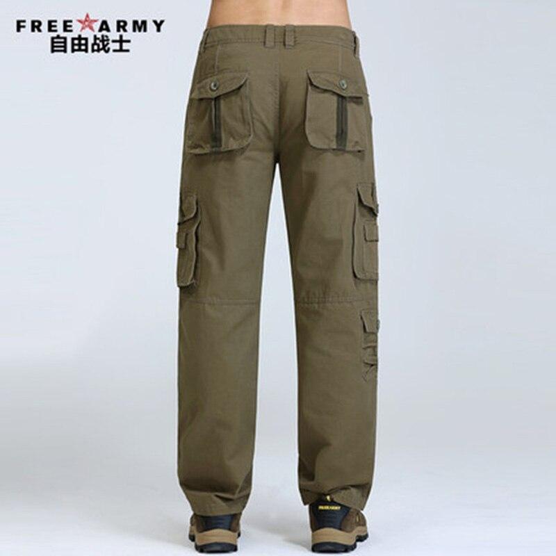 Pantalones Cargo de talla grande para hombre, pantalones casuales con varios bolsillos, pantalones de hombre de longitud completa, pantalones para correr de estilo militar, pantalones de invierno para hombre Mk76121