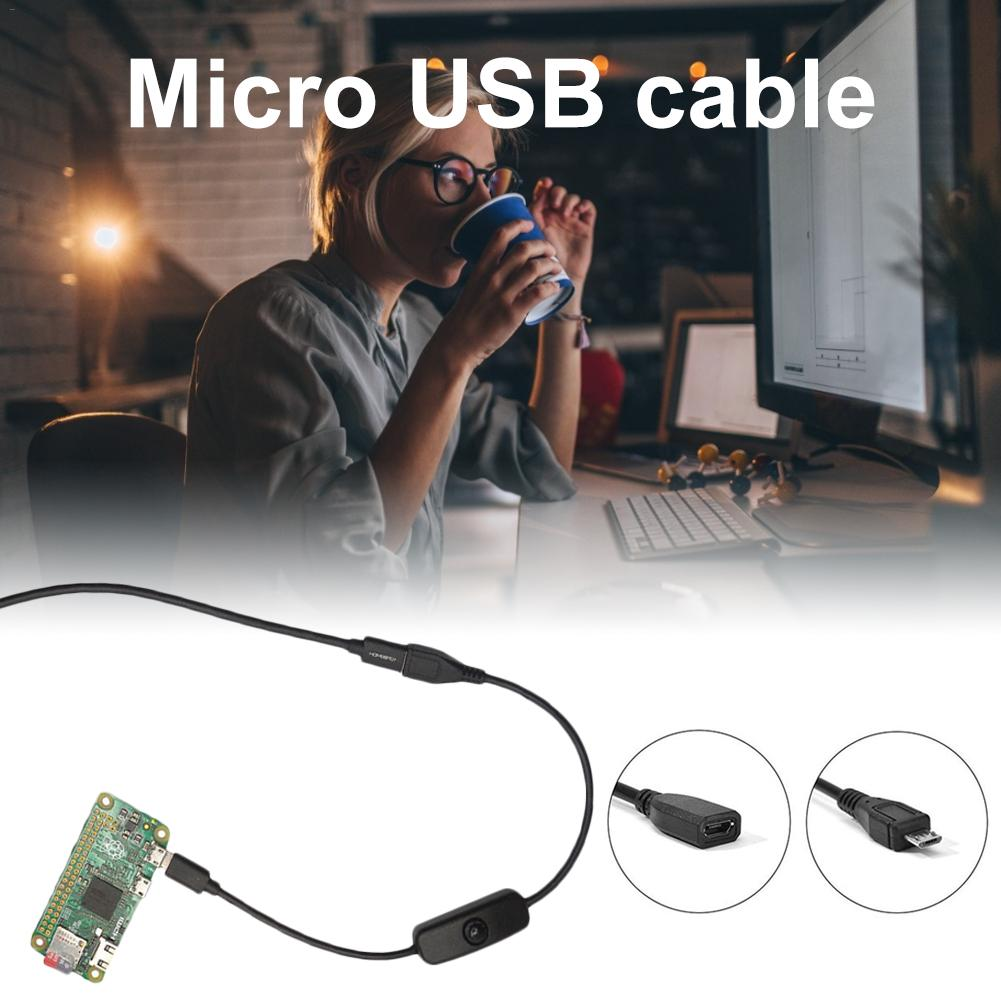 Cable Micro USB hembra a macho para Raspberry Pi Cable de interruptor...